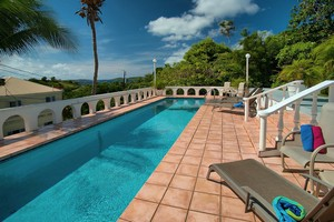 st john villa pool and view